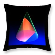 Conic Sections Parabola Poster 6 Throw Pillow