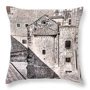 Conic Stairs In The White City Throw Pillow