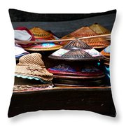 Conical Hats 01 Throw Pillow