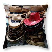 Conical Hats 02 Throw Pillow