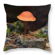 Conical Wax Cap Mushroom Throw Pillow