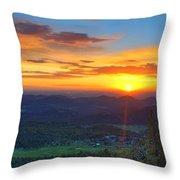 Conifer Sunrise Throw Pillow