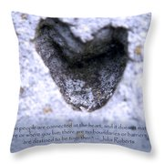 Connected At Heart Throw Pillow