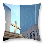 Connected By The Cross Throw Pillow