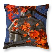 Connecticut Fall Colors Throw Pillow by Jeff Folger