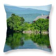 Connecticut River Farm II Throw Pillow