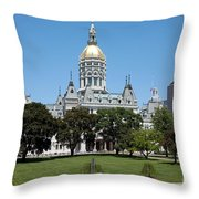 Connecticut State Capitol Hartford Throw Pillow