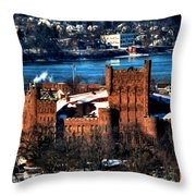 Connecticut Street Armory Winter 2013 Throw Pillow