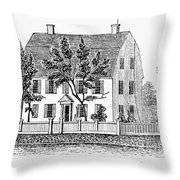Connecticut Webb House Throw Pillow