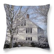 Connecticut Winter Throw Pillow by Michelle Welles