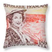 Connecting The Nice France 1860-1960 Throw Pillow