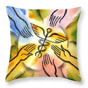 Connecting To Health Throw Pillow