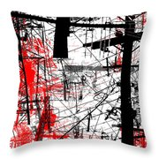 Connection 26 Throw Pillow