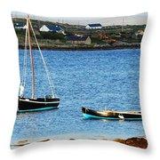 Connemara Boats Throw Pillow