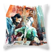 Conquistadores On The Boat In Vila Do Conde In Portugal Throw Pillow