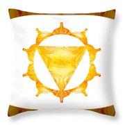 Conscious Spirituality Abstract Chakra Art By Omaste Witkowski Throw Pillow