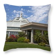 Conservatory At The Huntington Library Throw Pillow