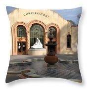 Conservatory Gardens Sunny Facade Throw Pillow