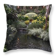 Conservatory In Autumn Throw Pillow