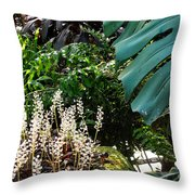 Conservatory Leaves Throw Pillow