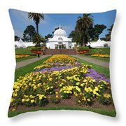 Conservatory Of Flowers Throw Pillow