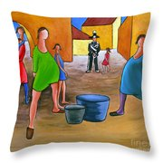 Constable And Little Girl Throw Pillow