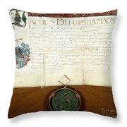 Constantijn Huygens Knighthood 1622 Throw Pillow