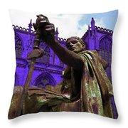 Constantine The Emperor At Yorkminster Throw Pillow