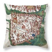 Constantinople, 1420 Throw Pillow