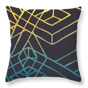 Construct Number Three Throw Pillow