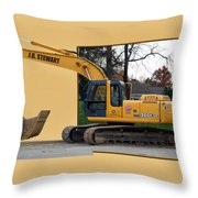 Construction Equipment 01 Throw Pillow