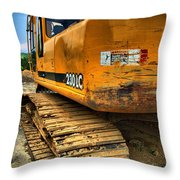 Construction Excavator In Hdr 1 Throw Pillow