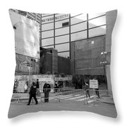 Construction In Black And White Throw Pillow