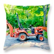 Construction Machinery Equipment 1 Throw Pillow