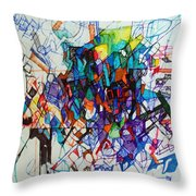 Construction Of Self 1 Throw Pillow by David Baruch Wolk
