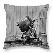 Construction - Vintage Cement Mixer Throw Pillow