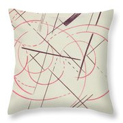 Constructivist Composition, 1922 Throw Pillow