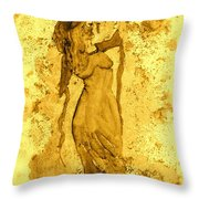 Consultation In Sepia Throw Pillow