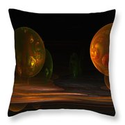 Consumed From Within Throw Pillow