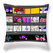 Contact Sheet Throw Pillow