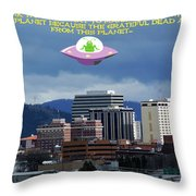 Contact With A Dead Planet Throw Pillow