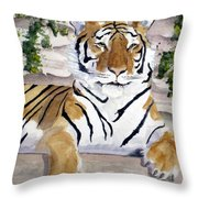 Contemplating Dinner Throw Pillow