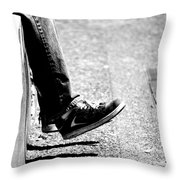 Contemplating Steps Throw Pillow