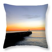 Contemplating The Meaning Of Life Throw Pillow