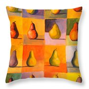 Contemplating The Pear Throw Pillow