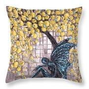 Contemplation-color Variaton Throw Pillow