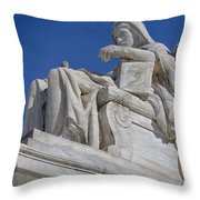 Contemplation Of Justice 1 Throw Pillow