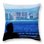 Contemplation Of Paradise Throw Pillow