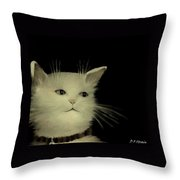 Contemplative Cat   No.2 Throw Pillow