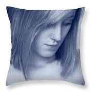 Contemplative Throw Pillow by Amanda Elwell